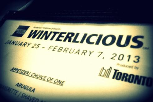 Winterlicious Menu